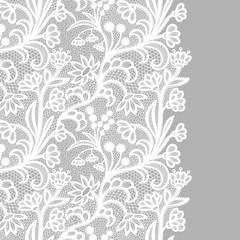 White vintage lace elegant lace. Lacy border.