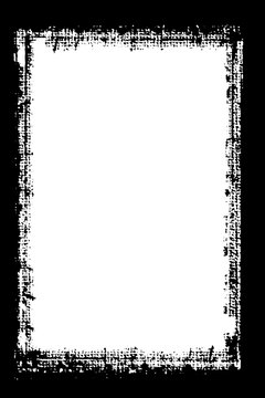 Abstract Decorative Black & White Edge for Landscape Photos. Type Text Inside, Use as Overlay or for Layer Mask