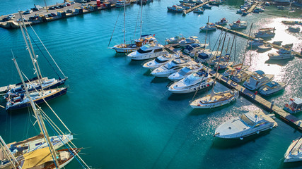port morze błękit