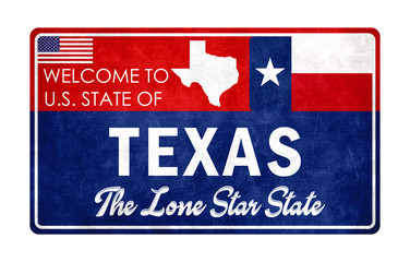 Welcome to Texas - grunge sign