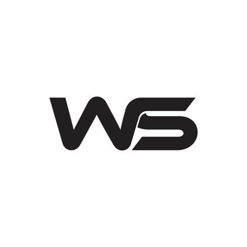 letters ws simple linked logo vector