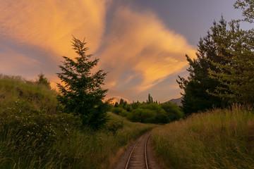 moody skies in Patagonia, Argentina