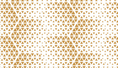 Foto op Canvas Geometrisch Abstract geometric pattern. Seamless vector background. White and gold halftone. Graphic modern pattern. Simple lattice graphic design