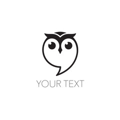 Photo Stands Owls cartoon Owl icon vector Illustration