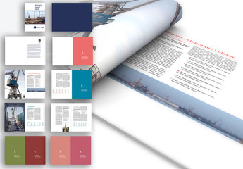 Annual Report Layout with Colorful Accents