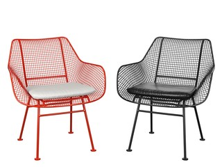 Two similar chairs on a white background