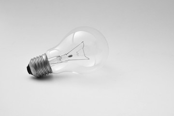 Ceiling lamp with shadow isolated on pale grey background