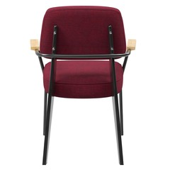Red modern chair for cafe, back view