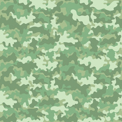 Pastel Camouflage Seamless Pattern - Pastel green camouflage repeating pattern design