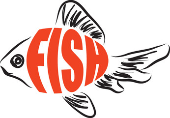 Fish text illustration