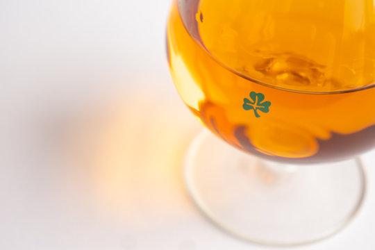 Shamrock Whiskey Glass Close Up