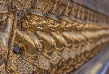 Bangkok, Thailand - the Grand Palace is a complex of buildings at the heart of Bangkok, composed by dozens of temples and buildings