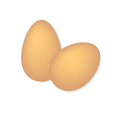 eggs on a white background- vector illustration
