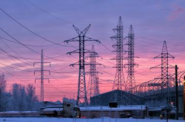 Electric current transmission line.