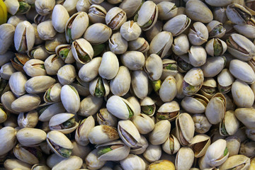 Roasted pistachios, natural product