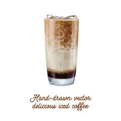 Lamas personalizadas para cocina con tu foto Delicious tasty hand-drawn vector iced coffee
