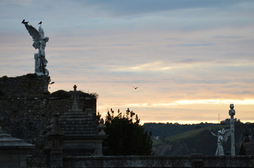 Sunrise by the cemetery in Comillas