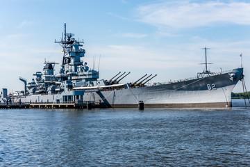 The USS New Jersey Battleship in Camden, New Jersey