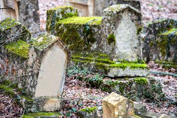 Stones on jewish cemetery