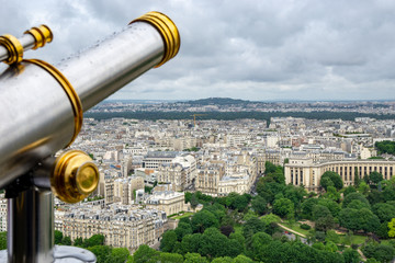 view from the eiffel tower in paris - telescope