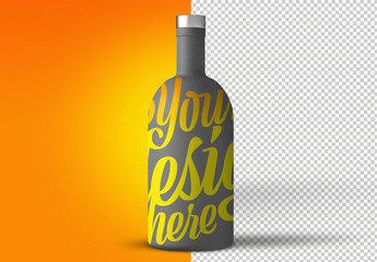 Large Beverage Bottle Mockup