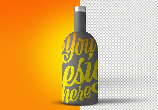 Large Beverage Bottle Mockup