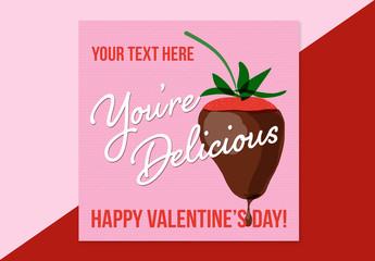Valentine's Day Digital Card Layout