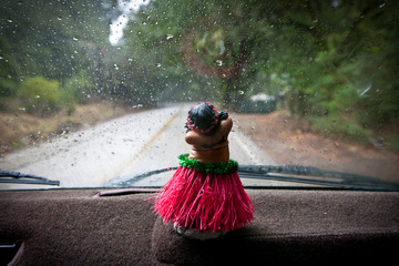 Hula dancer on dashboard