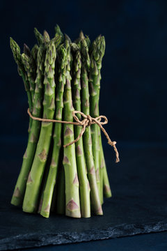 Asparagus bunch tied with twine