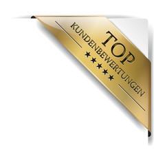 goldene Banderole  TOP Kundenbewertungen