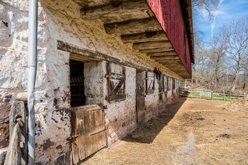 18th Century Barn at the Hopewell Furnace National Historic Site in Pennsylvania
