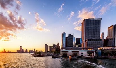 Westside Sunset. Manhattan New York