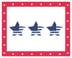 stars with american flag symbol