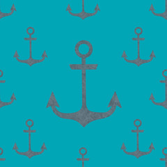 Seamless nautical design patterned paper, illustration.
