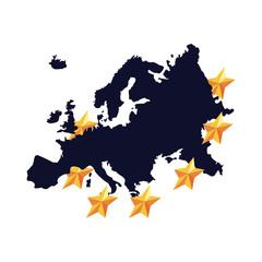 european union map golden stars
