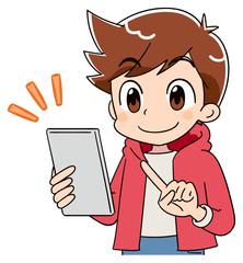 小学生 子ども 男の子 スマホ(アニメ・ゲーム風テイスト)