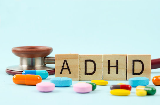 Attention deficit hyperactivity disorder or ADHD concept.