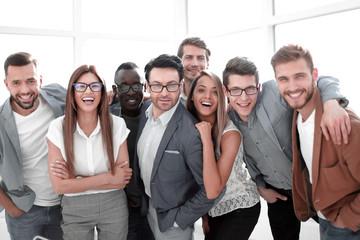 Fototapeta portrait of a group of successful business people