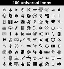 Set 100 universal vector icons