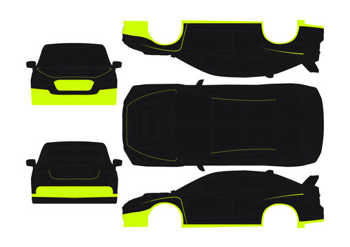 wrx drift car graphic (dunlop style)