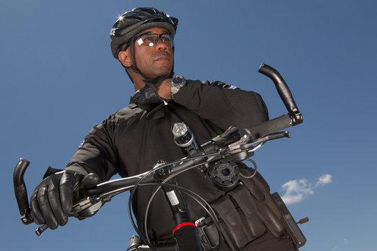 Police on mountain bike