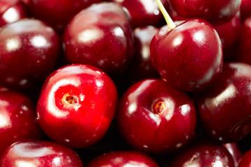 Sweet cherries background/ full frame