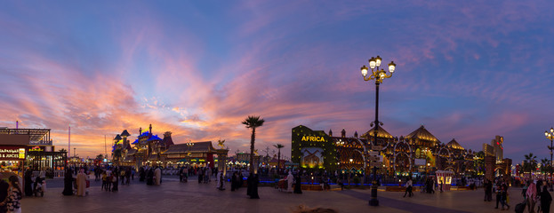 Sunset at Global Village, Dubai, United Arab Emirates 2019