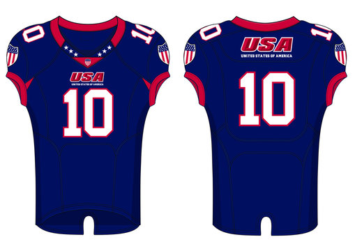 American Football Jersey template