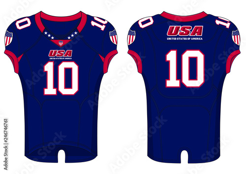 online store 16148 6f641 American Football Jersey template