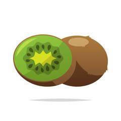 Kiwi fruit vector isolated illustration