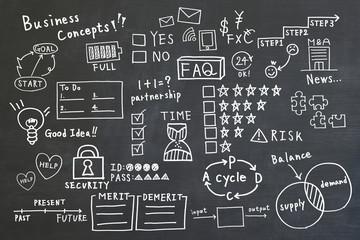 手書きのビジネスコンセプトの背景