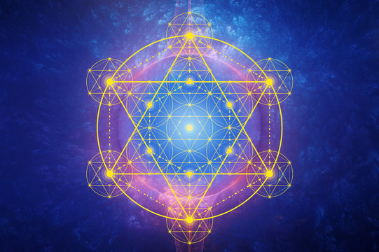 Metatron´s Cube - cosmic energy field - flower of life