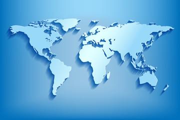 Poster Carte du monde Basic RGB