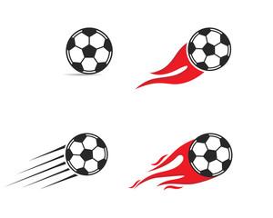 Soccer ball icon. Logo vector illustration